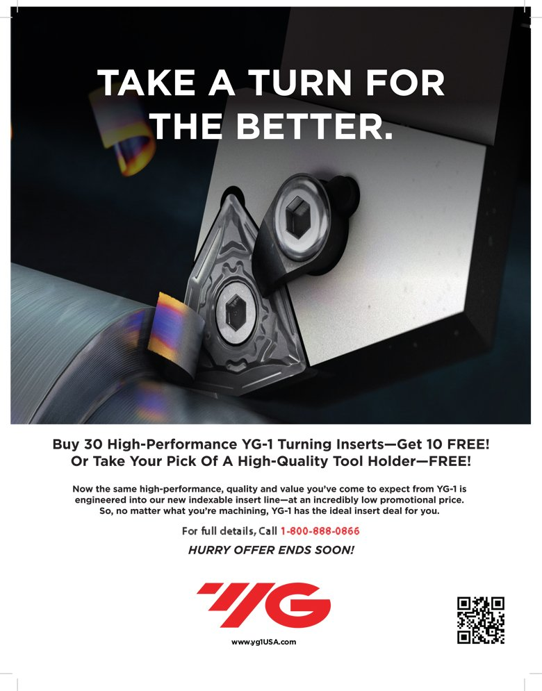 YG1 USA Turning Insert Promotion